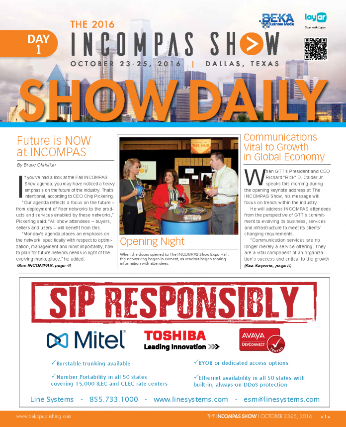 INCOMPAS (Fall 2016) - Day 1 Show Daily