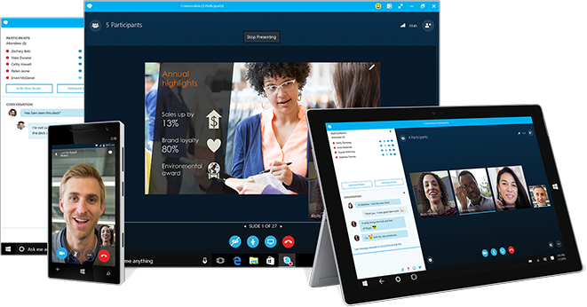 An image of Skype, an alternative to Telegram.